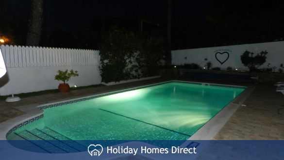 Private swimming pool at night 2