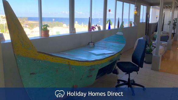Desk and sea views