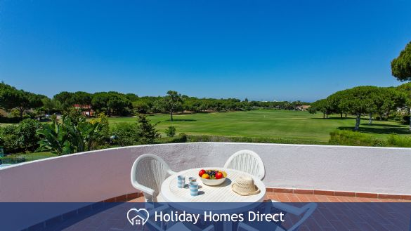 Villa Anderwood terrace and golf course view