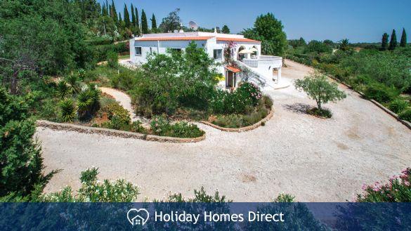 Spacious villa in large hillside garden