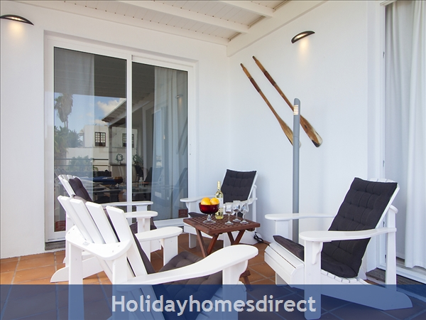 Villa Benedicte With Private Heated Pool, Puerto Del Carmen, Lanzarote: Relax on the terrace