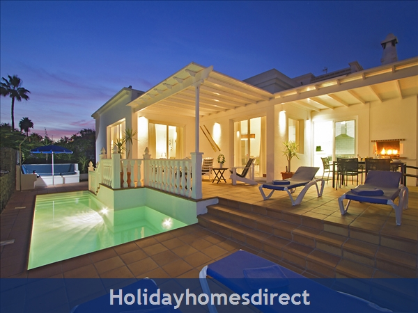 Villa Benedicte With Private Heated Pool, Puerto Del Carmen, Lanzarote: Benedicte by night