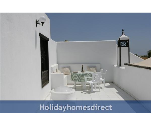 Villa Marcos With Private Pool, Puerto Del Carmen, Lanzarote: Master bedroom balcony
