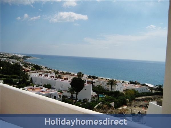 Stunning Sea-views Luxury Apartment.  Spanish Tourism Registered.  Free Wifi.  5 Minutes  Walk  Playa And Beaches, Uk Tv.:  view from SECOND terrace