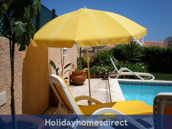 Villa Miranda. Praia Da Luz .. 2 Bedrooms, Full Air-con, Private Pool, Fantastic Sea Views !: Relaxing beside the Private Pool!