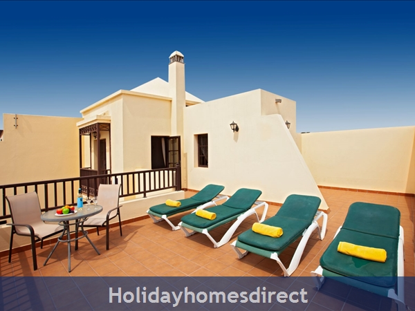 Villa Eileen, 4 Bed Villa In Lanzarote With Private Pool Sleeps 10, Free Air Con/wifi: Sun Terrace Off master Bedroom