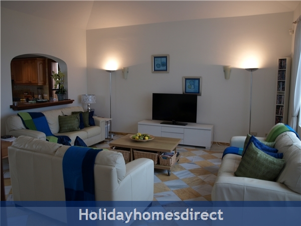 Carlara, Luxurious Designer Villa, Lanzarote: Lounge with SKY plus HD sport
