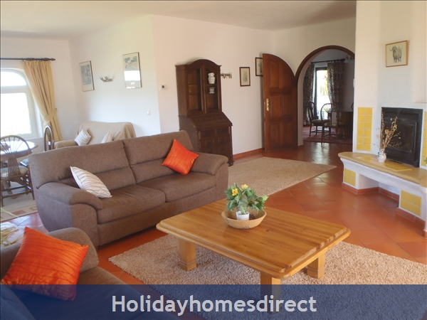 Beautiful One And Two Bedroom Apartments With Heated Pool.   Magnificent Gardens, Quiet Countryside Near Lagos And Beach.: Large upstairs living room with 2 or 3 bedrooms