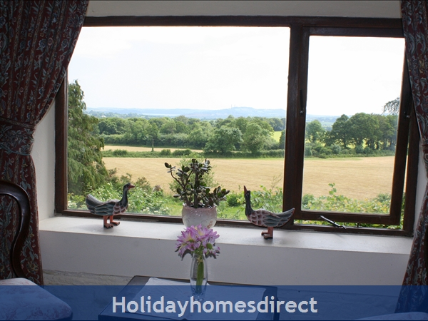 Granary Cottage .. Lots Of Character, Peace And Quiet And All The Mod Cons !: Countryside view from Master Bedroom