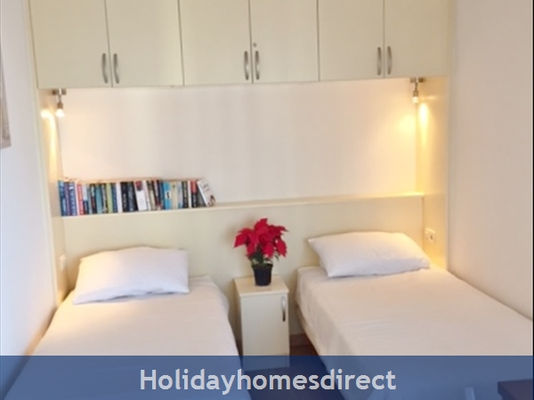 Marbella - Old Town Top Floor  Affordable Luxury Studio .free Wifi. Stunning Sea-views, Just  2 Mins. Walk To Old Town Or The Beach: Seperate sleeping area,beds can be made uptogether