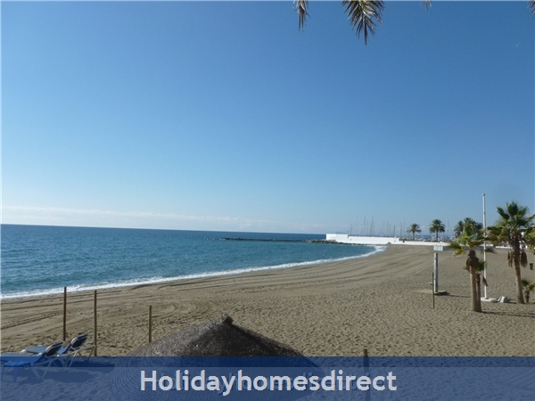 Marbella - Old Town Top Floor  Affordable Luxury Studio .free Wifi. Stunning Sea-views, Just  2 Mins. Walk To Old Town Or The Beach: beach right in front and Marbella Marina