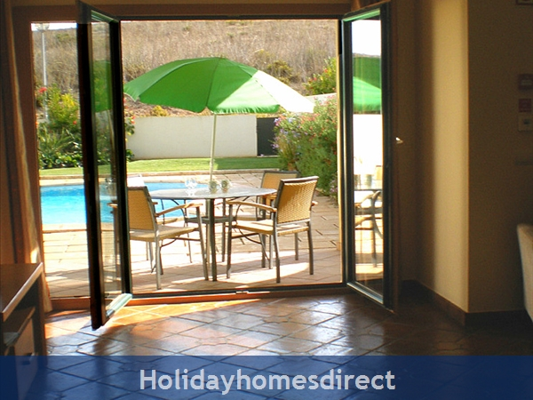 Domus Iberica Casa 2. Burgau.  With Private Pool, Sea View And Walk To The Beach !: Patio and Private Pool viewed from the Lounge