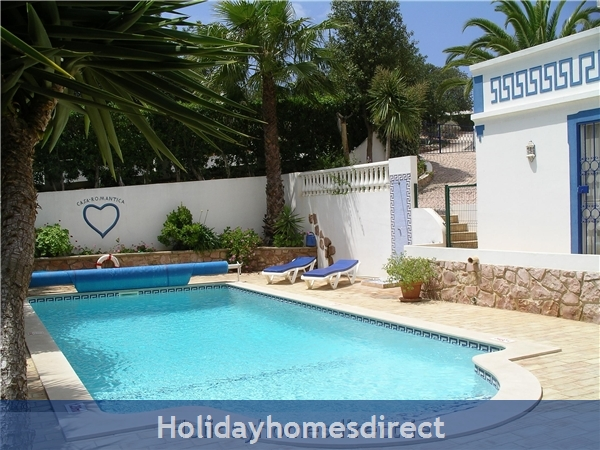 Casa Romantica Near Albufeira With Private Heatable Pool And Free Wireless Internet: Private pool and outside shower