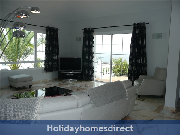 Villa Loretta With Private Pool, Puerto Del Carmen Old Town, Lanzarote: Another lounge with a view photo