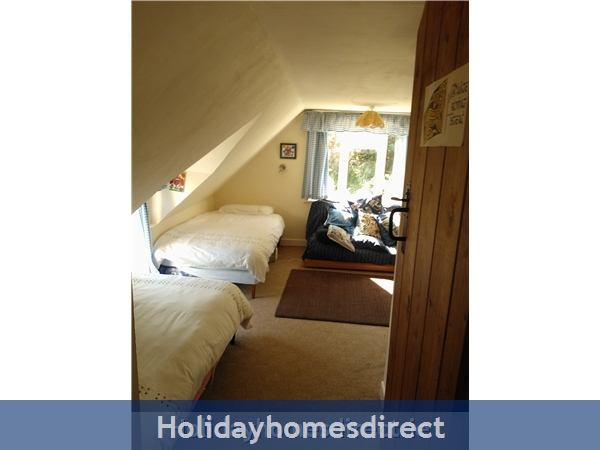 Catherdaniel Charming Holiday Cottage: Bedroom 1 upstairs