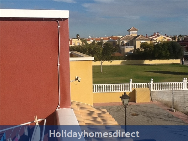 Sun Lake Torrevieja 3 Bedroom House Fully Air-conditioned, Wifi ,sky Tv: View from terrace