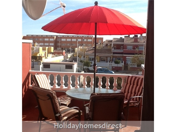 Sun Lake Torrevieja 3 Bedroom House Fully Air-conditioned, Wifi ,sky Tv: Terrace balcony