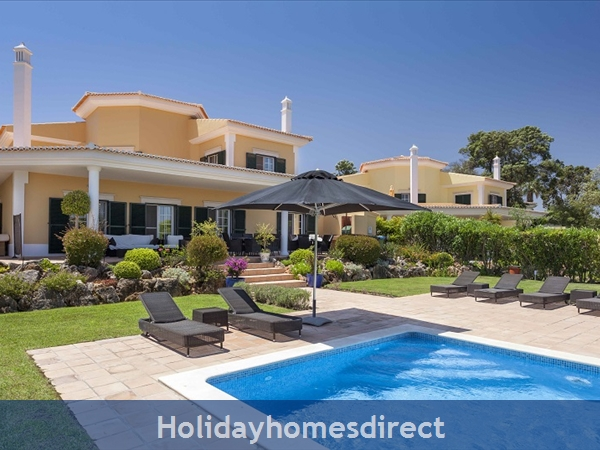 Martinhal Quinta, 4 Bed Villa With Private Pool, Quinta Do Lago Now Booking 2019: Pool Facade