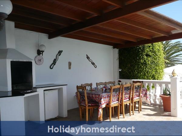 Casa Cielo With Private Pool, Puerto Del Carmen, Lanzarote: Al fresco dining