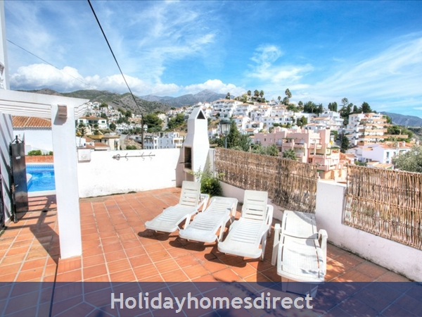 Alamar Nerja Cosat Del Sol Spain: Entrance to swimming pool directly from property