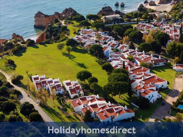 Aerial view of  Prainha Village in Portugal