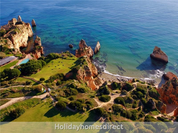 Aerial view of  Prainha by the coast in Portugal