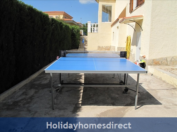 Villa Santos, 2 Bed, Air Con, Sat Tv Wifi, Heated Pool, Outstanding Bbq Terrace Fantastic Seaviews Quiet Location, 15minutes Walk To Shops And Beaches: Table Tennis, Boule court