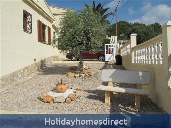 Villa Santos, 2 Bed, Air Con, Sat Tv Wifi, Heated Pool, Outstanding Bbq Terrace Fantastic Seaviews Quiet Location, 15minutes Walk To Shops And Beaches: Front of Villa