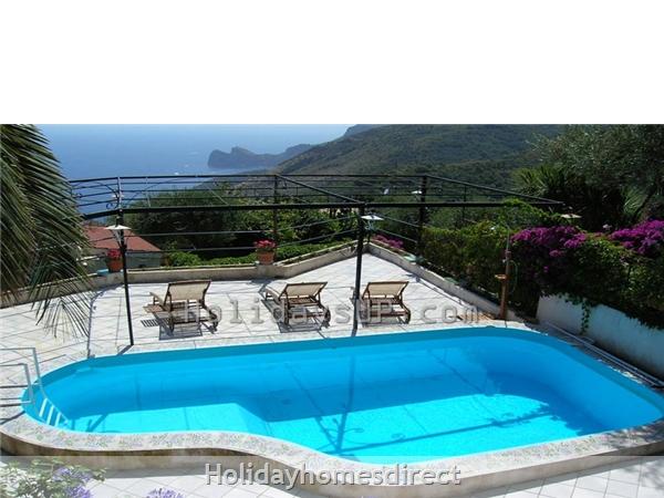 Villa Carlotta With Private Pool Sorrento Coast: Swimming pool and sea view villa amalfi coast flat