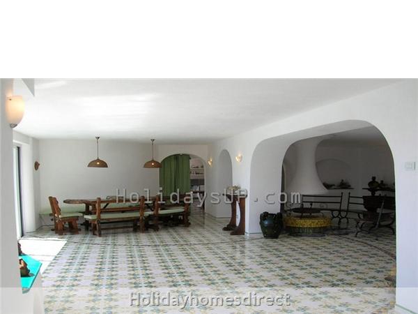 Villa Carlotta With Private Pool Sorrento Coast: Living area villa sorrento holidays up booking