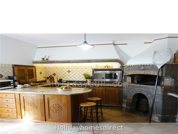 Kitchen fully equipped at villa in sorrento coast