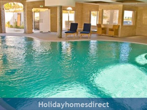 Beach club indoor pool in the Algarve Portugal