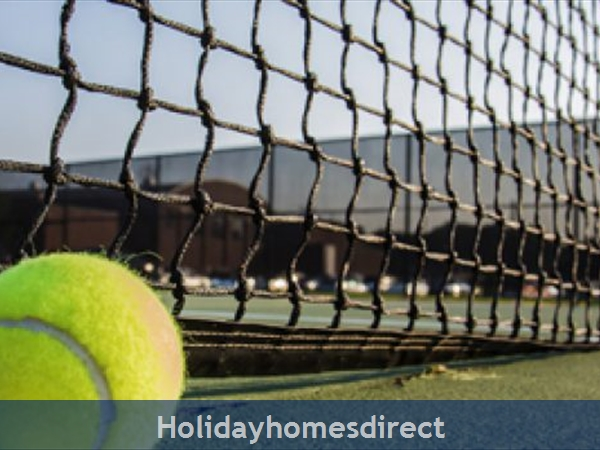 Tennis court on the beach club in Portugal