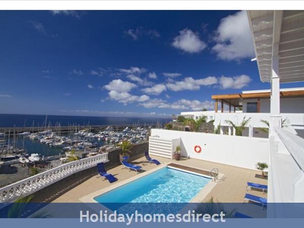 Villa Vellamos With Private Pool, Puerto Calero, Lanzarote: Pool area