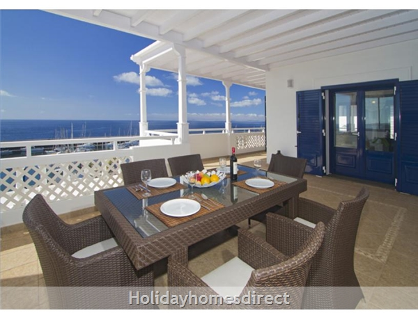 Villa Vellamos With Private Pool, Puerto Calero, Lanzarote: Terrace