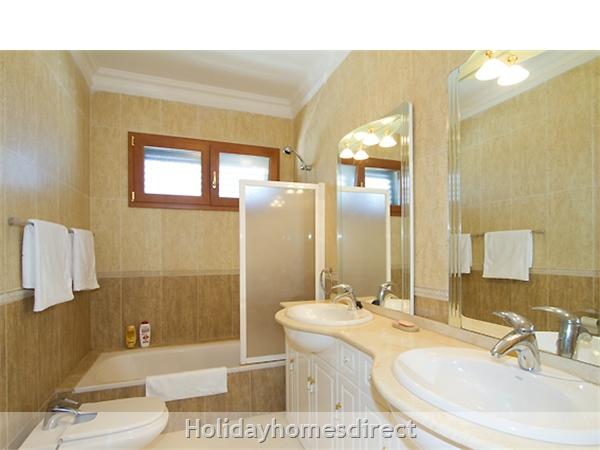 Villa Harmony master bathroom with a shower