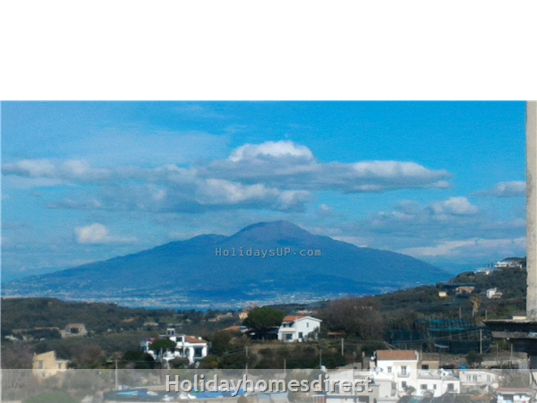 Vesuvius mount view from top terrace shared