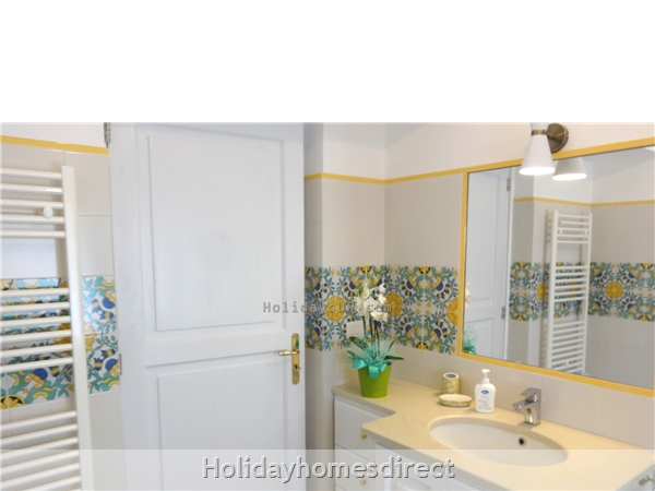 Bathroom with shower at villa in Amalfi coast
