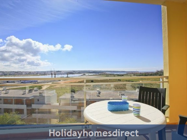 Apartment Vila Arade, Top Floor, Sleeps 4, Sea View: sea- river and Ferragudo viewd from both balconies