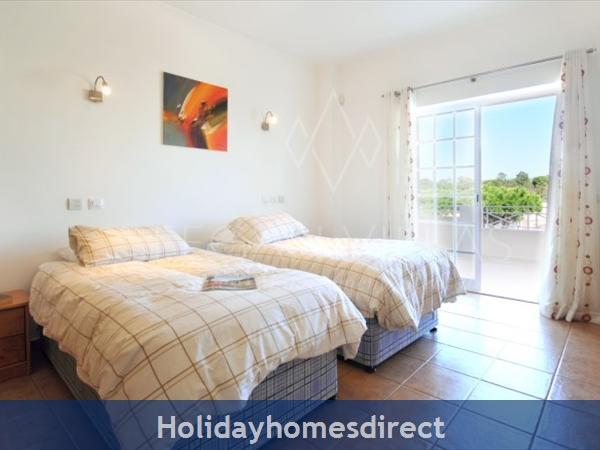 Villa Lago spare bed bedroom in Portugal