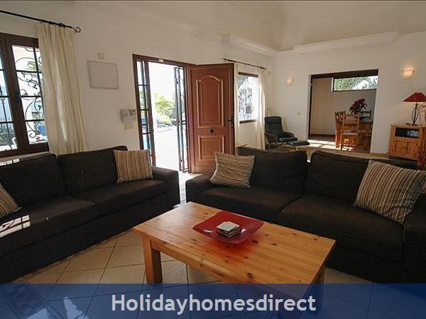 Villa Blanca indoor sitting room in Lanzarote