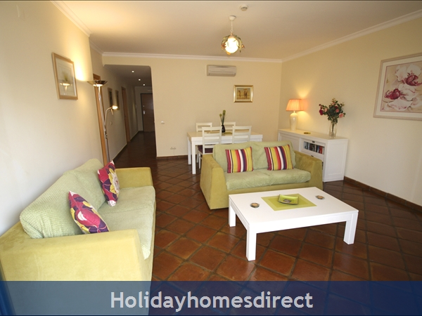 Domusiberica Apartment Fd.. In Burgau Village Walk To Everywhere Including The Beach.: Hall leads into a bright spacious Living Room
