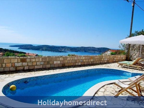 Five bedroom villa with pool in Orasac near Dubrovnik (DU083C)