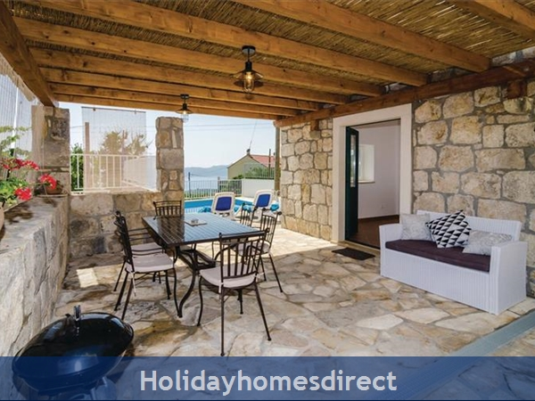 3 Bedroom Villa With Pool In Seaside Brsecine Near Dubrovnik, Sleeps 6 ( Du167): Image 2