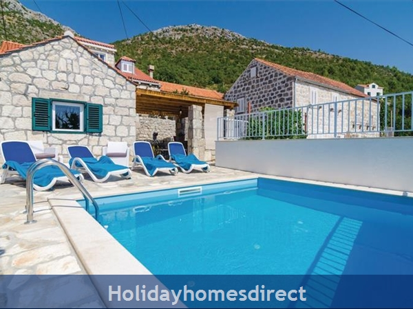 3 Bedroom Villa With Pool In Seaside Brsecine Near Dubrovnik, Sleeps 6 ( Du167): Image 18